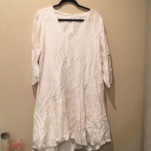 Club Monaco White Drop-waist Dress